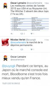 Tweet chiffres Oscar Lemaire