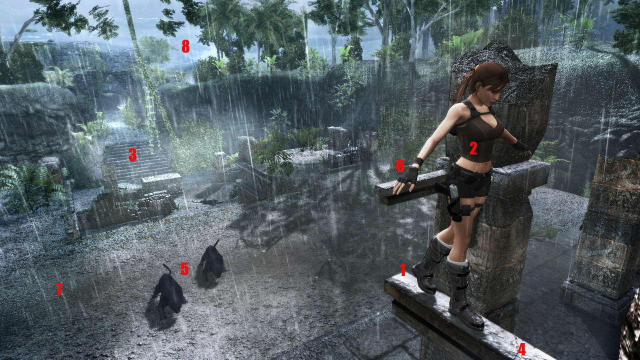 Screenanalysis : Tomb Raider Underworld / Banjo-Kazooie : Nuts & Bolts